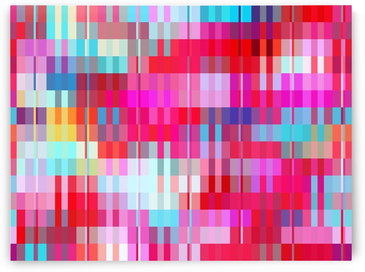 geometric square pixel pattern abstract background in pink and blue by TimmyLA