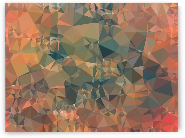 geometric triangle pattern abstract in brown and black by TimmyLA