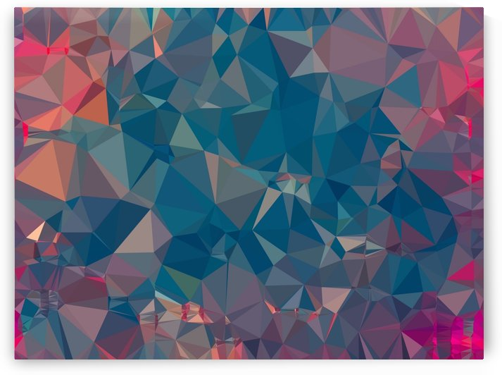 geometric triangle pattern abstract in blue and pink by TimmyLA