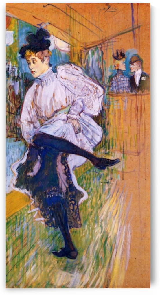 Jane Avril dances by Toulouse-Lautrec by Toulouse-Lautrec