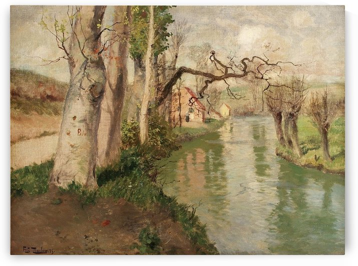 Fra Dieppe med elven Arques by Frits Thaulow