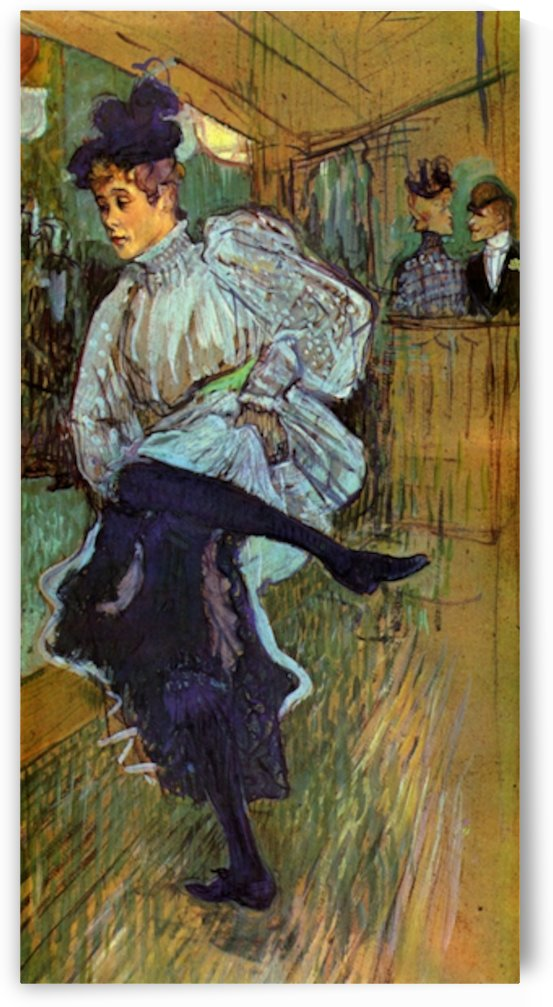 Jane Avril Dancing 2 by Toulouse-Lautrec by Toulouse-Lautrec