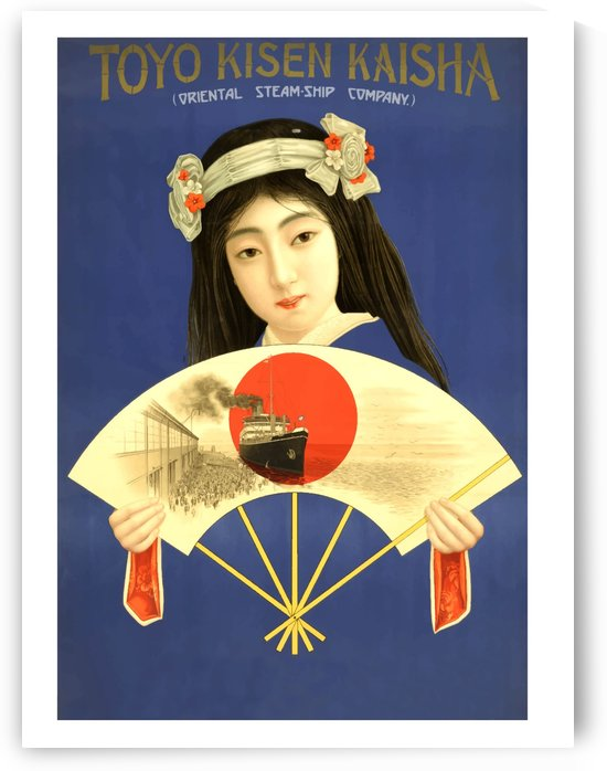 Japanese Geisha with Fan by vintagesupreme