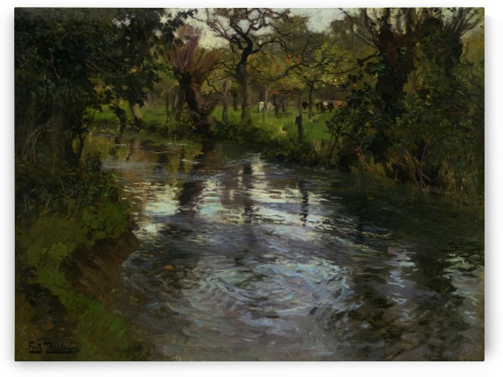 Woodland Scene with a River by Frits Thaulow