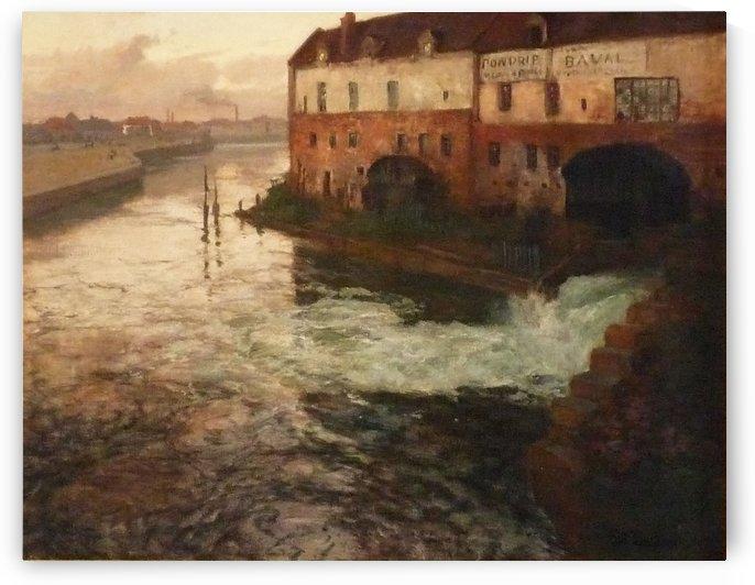 Vieille fabrique sur la Somme by Frits Thaulow