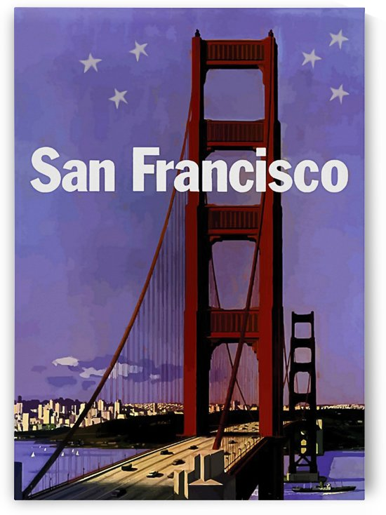 Golden Gate Bridge at Night by vintagesupreme