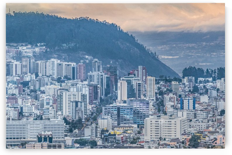 Aerial Cityscape Quito Ecuador by Daniel Ferreia Leites Ciccarino
