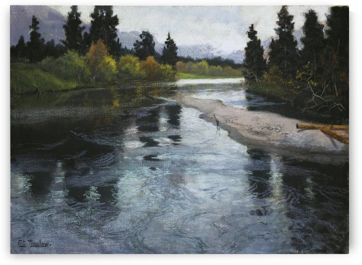 River by Frits Thaulow