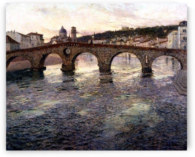 The Adige River at Verona by Frits Thaulow