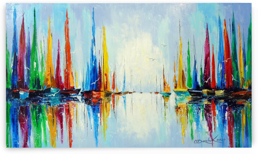 Bright sails at the pier by Olha Darchuk