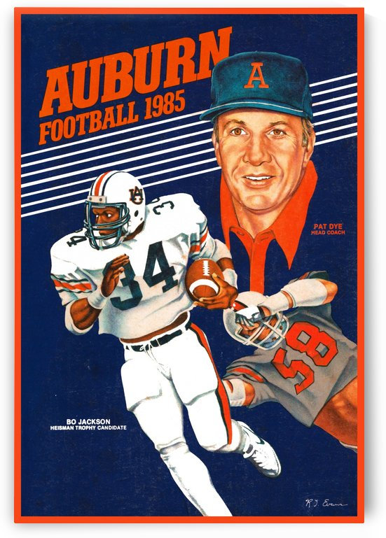 1985 auburn football poster by Row One Brand