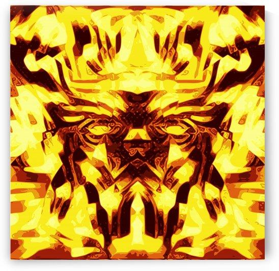 Sacred Light Wave Mask goldem by Jaycrave Designs