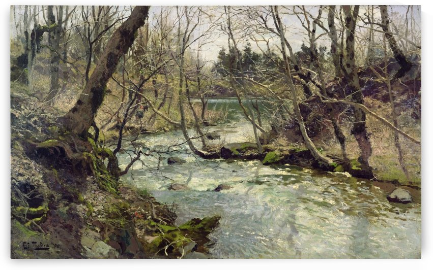 Elv by Frits Thaulow