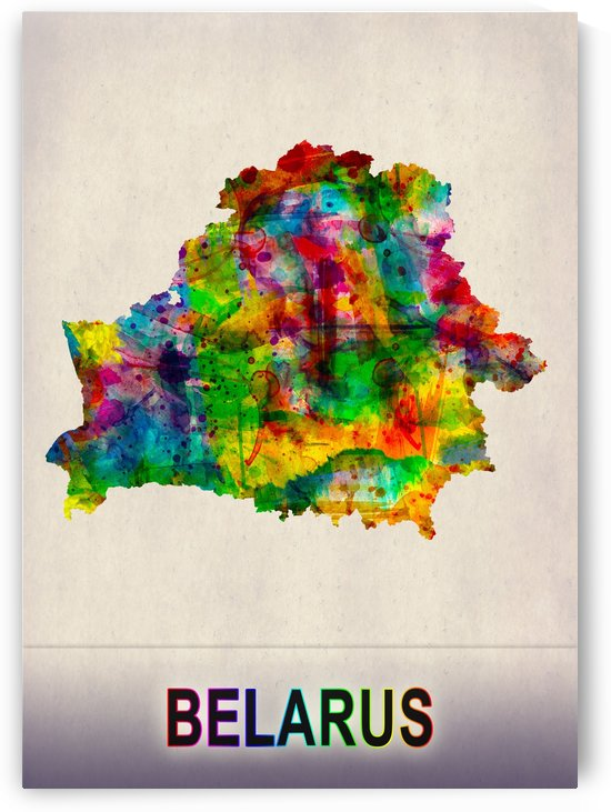 Belarus Map in Watercolor by Towseef
