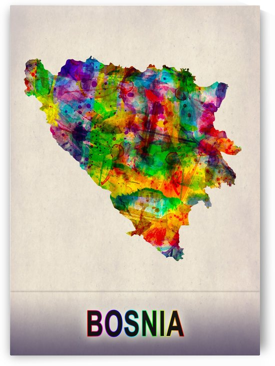 Bosnia Map in Watercolor by Towseef