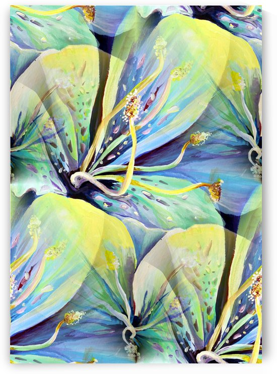 Blooming flowers Seamless Pattern by Nisuris Art