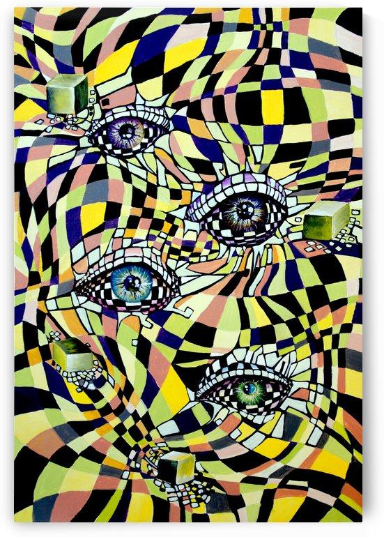 All Seeing Eye in Pop Surrealism  by Nisuris Art