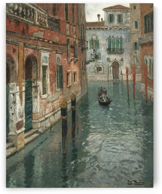 Along the canal in Venice by Frits Thaulow