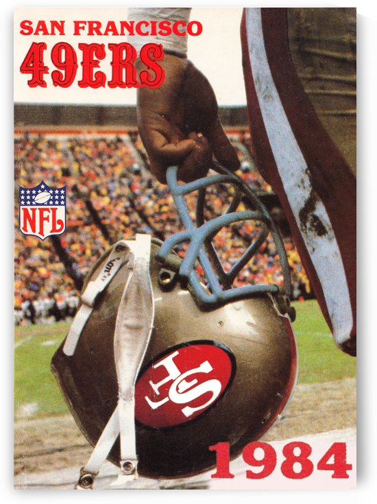 1984 san francisco 49ers helmet by Row One Brand