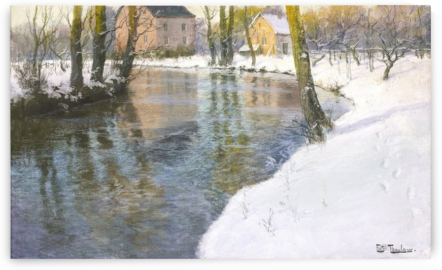 Snowy landscape by Frits Thaulow