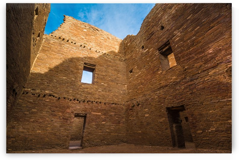 Chaco Canyon - Pueblo Bonito - Multi-Story Room  - New Mexico by Gary Whitton