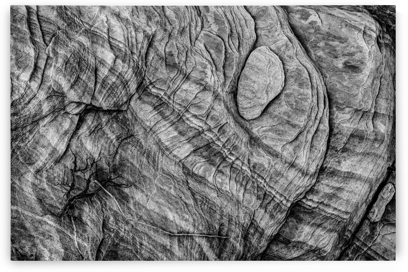 Textured Sandstone - Black and White - Valley of Fire by Gary Whitton
