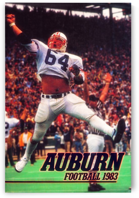 auburn football art 1983 by Row One Brand