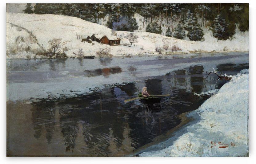 Winter at the River Simoa by Frits Thaulow