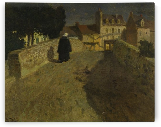 Towards the Pont Lovignon in Quimperle by Frits Thaulow