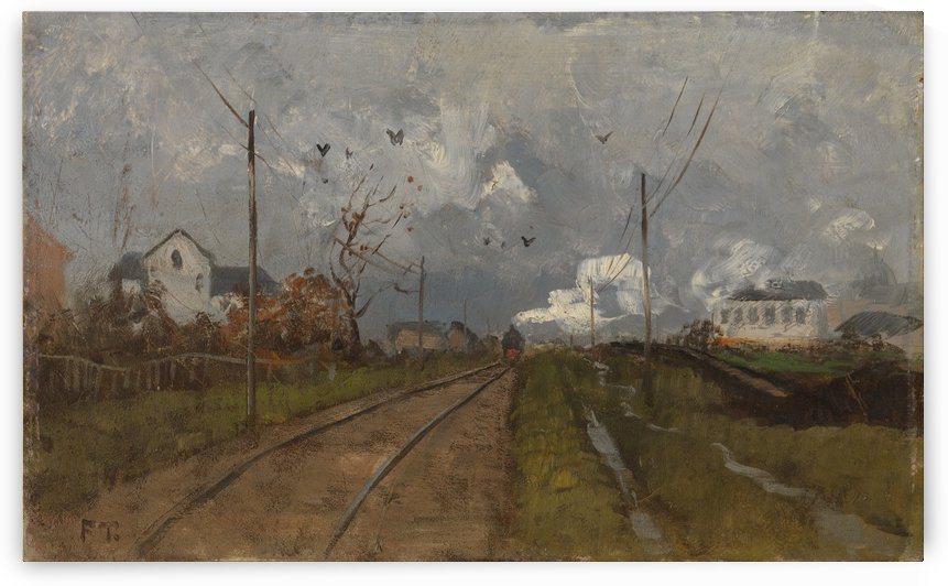 The Train is arriving by Frits Thaulow