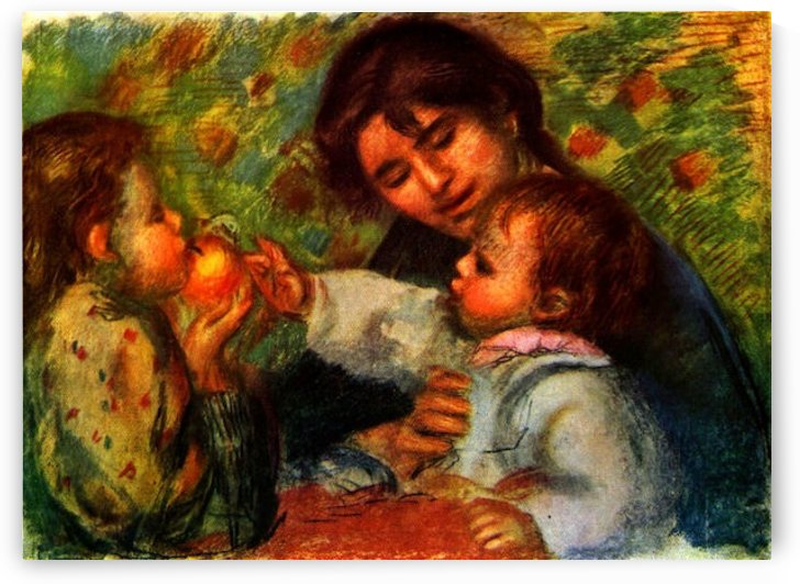Jean Renoir and Gabrielle by Renoir by Renoir