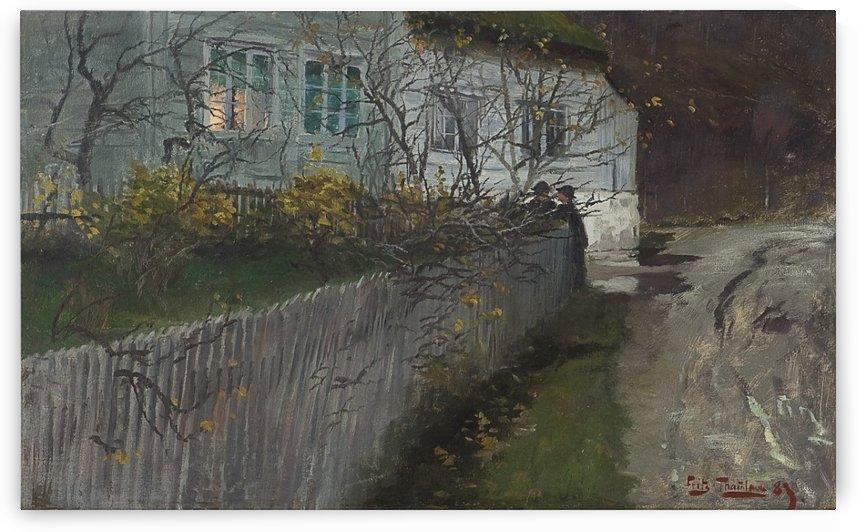 Cinque del mattino by Frits Thaulow