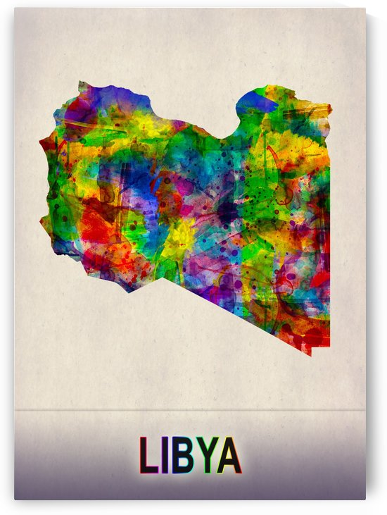 Libya Map in Watercolor by Towseef