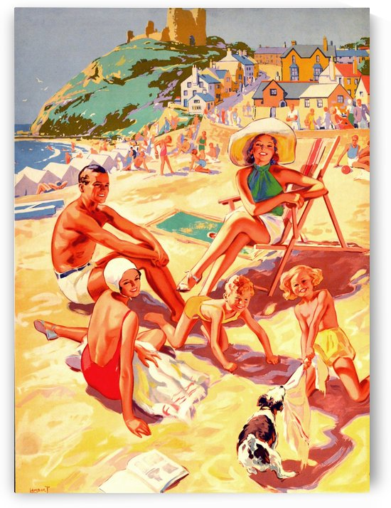 Criccieth Beach Wales by vintagesupreme