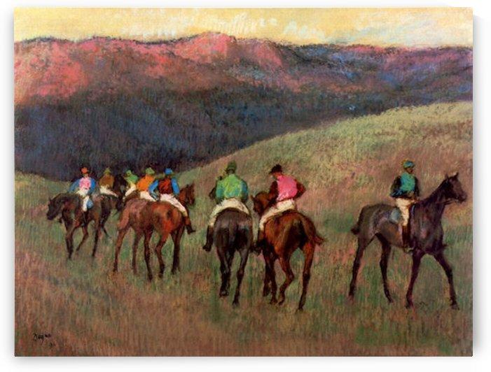 Jockeys in Training by Degas by Degas