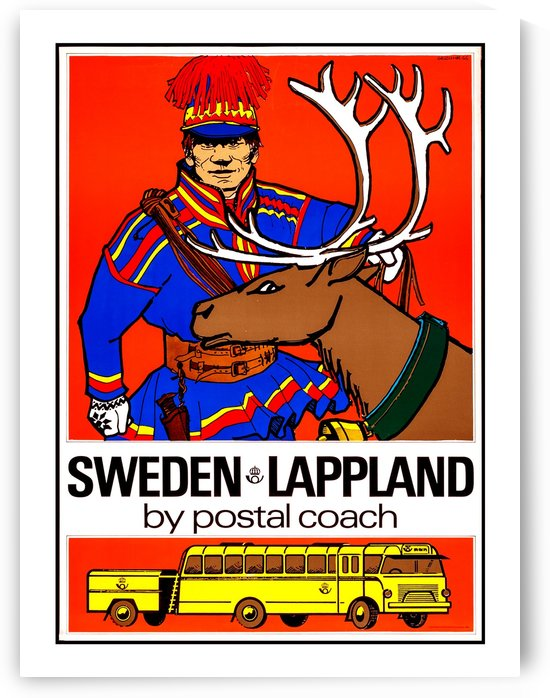 Postal Coach from Sweden Lapland by vintagesupreme