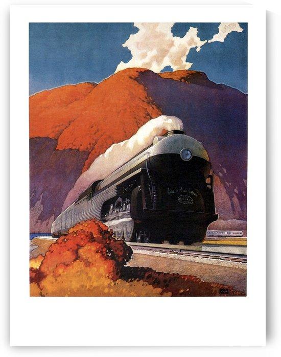 Steam Train on Railroad by vintagesupreme
