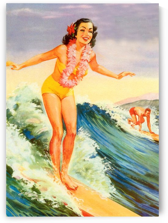 Hawaii Surfing Girl by vintagesupreme