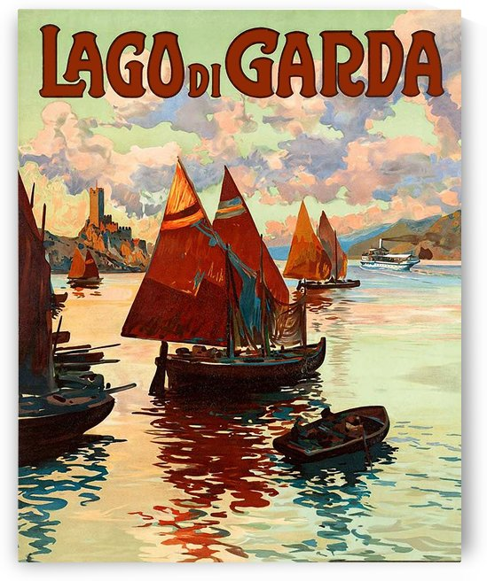 Sailing Boats on Lake Garda by vintagesupreme