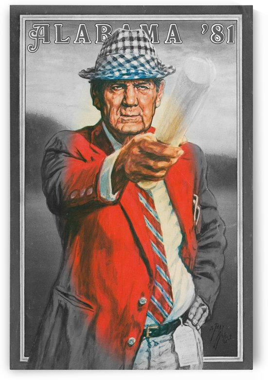 vintage bear bryant poster by Row One Brand