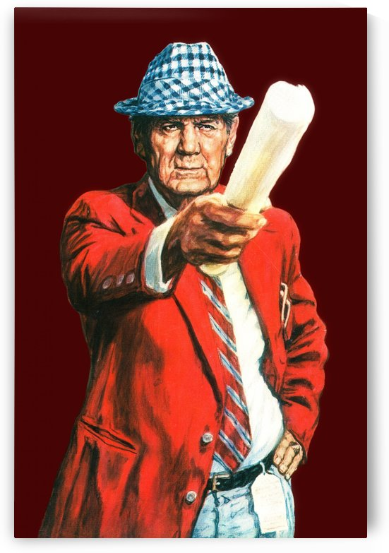 vintage bear bryant poster (1) by Row One Brand