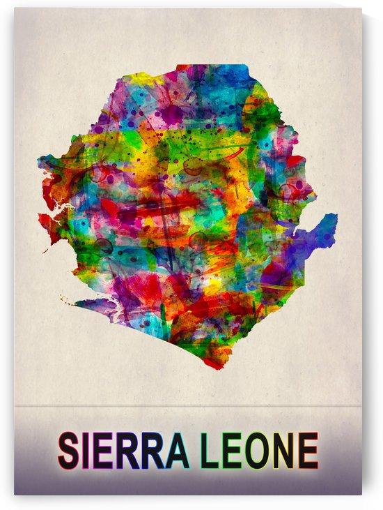 Sierra Leone Map in Watercolor by Towseef Dar