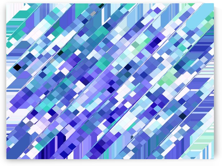 geometric square pixel pattern abstract background in purple and blue by TimmyLA