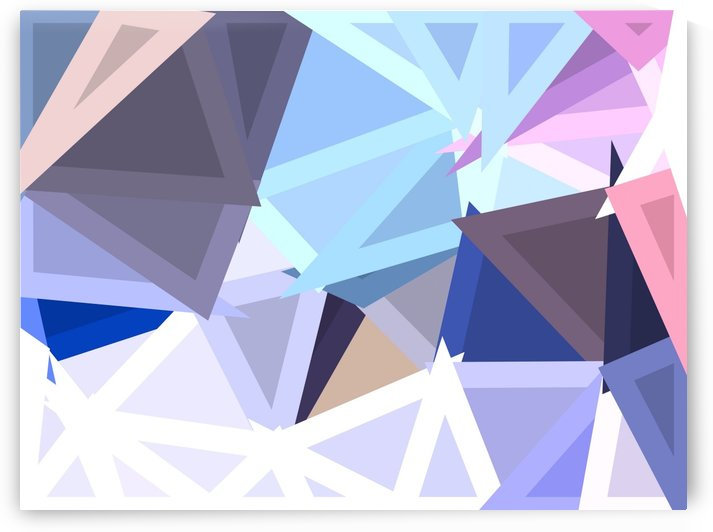 geometric triangle polygon shape abstract background in blue and pink by TimmyLA
