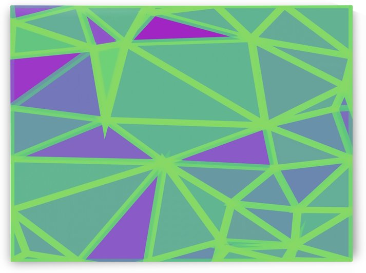 geometric triangle polygon shape abstract background in green and purple by TimmyLA
