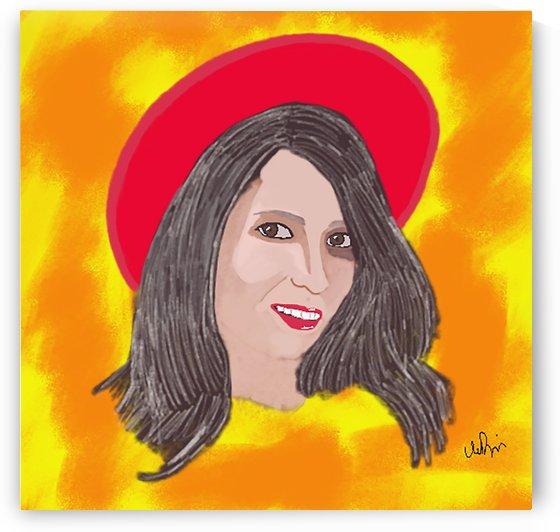 Lady in Red Hat by W Scott