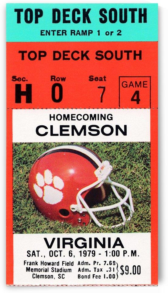 1979 Virginia vs. Clemson by Row One Brand