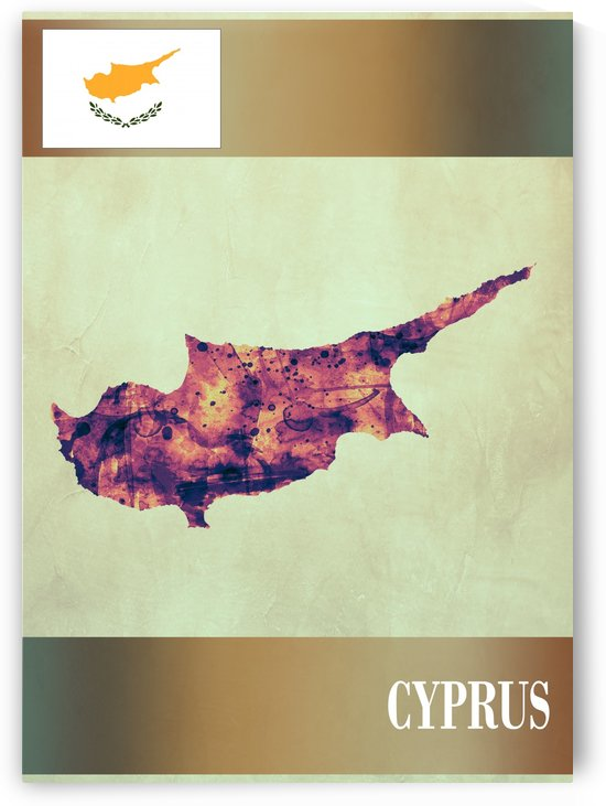 Cyprus Map with Flag by Towseef Dar