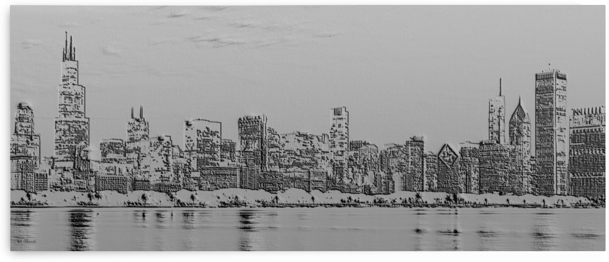 Chicago Skyline by Willy Decade