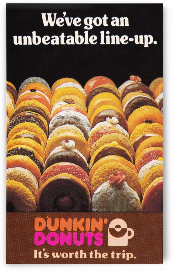 vintage dunkin donuts ad by Row One Brand